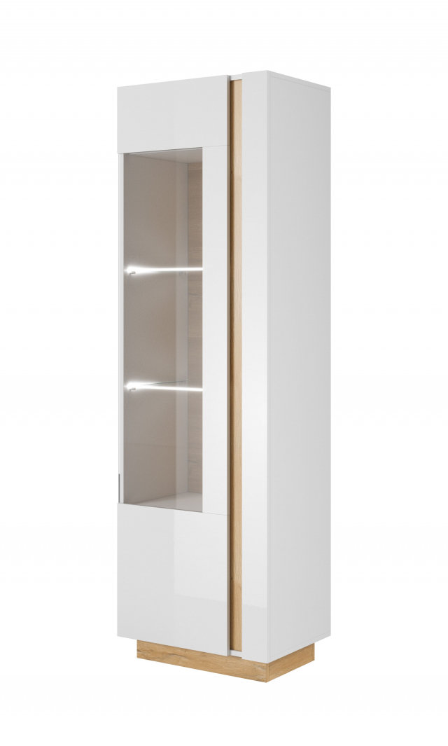 Arco White B Glass-fronted cabinet