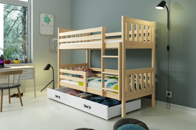 Carino 2 Bunk bed with mattress 190x80 pine