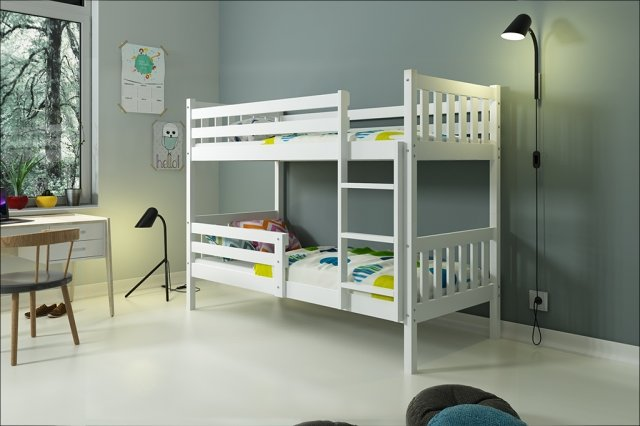 Carino 2 Bunk bed with mattress 200x90 white (Without box)