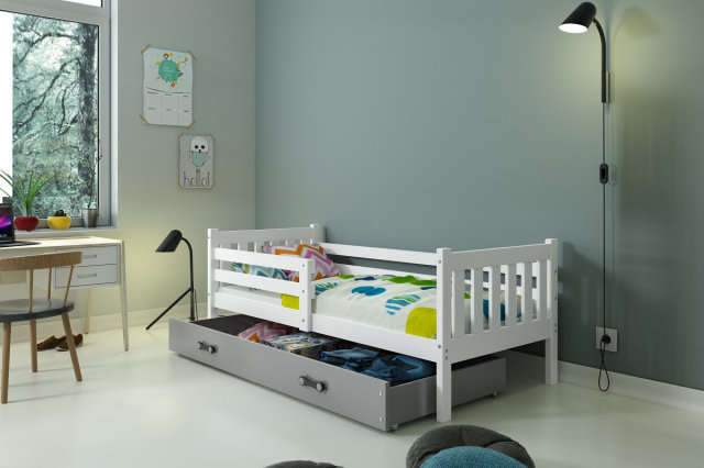 Carino 1 Bed with mattress 190x80 white