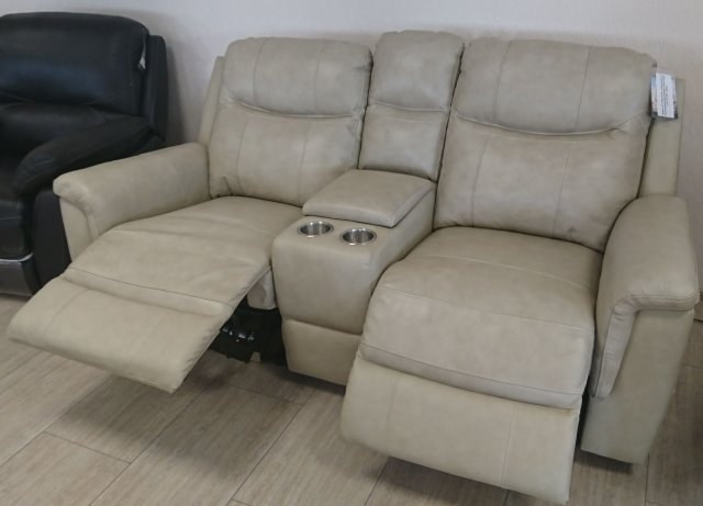 PORTLAND 2-seater sofa with the console and manual recliners ...