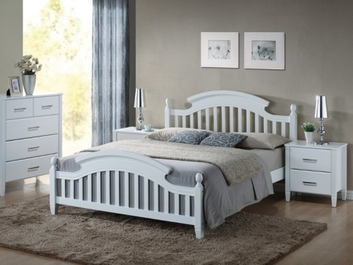 Lizbona 160 Bed with wooden frame