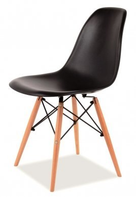 ENZO/ C Chair black/beech wood