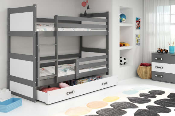 Rico II 200x90 Bunk bed with two mattresses Graphite