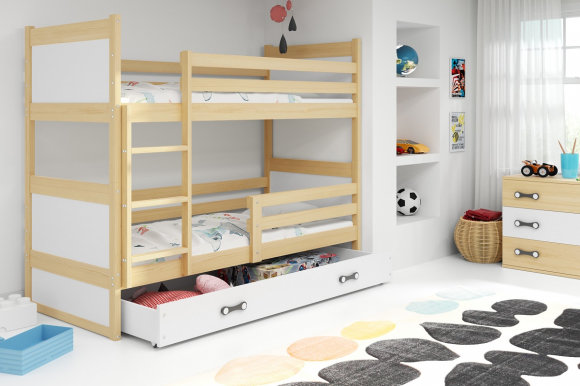 Rico II 200x90 Bunk bed with two mattresses Pine
