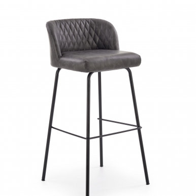 V-CH-H/92-C.P Bar stool (Grey)