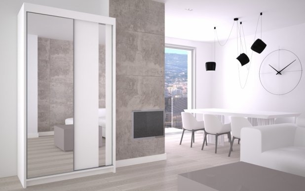 Max- Gracja 120 White mat Wardrobe