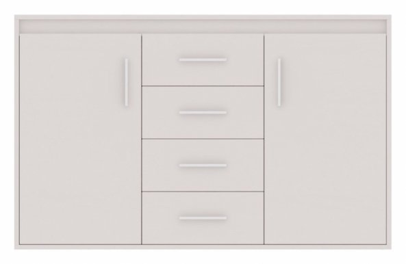 Texas 7 Chest of drawers White mat