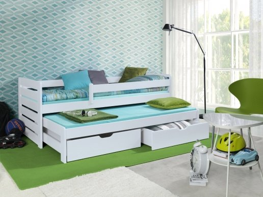 TOMASZ II Bed with mattress White