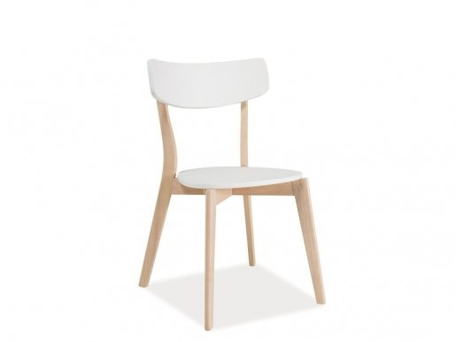 Tibi DBB Chair White mat/bleached oak