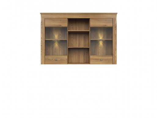 Bergen NAD2W Glass-fronted cabinet for chest of drawers