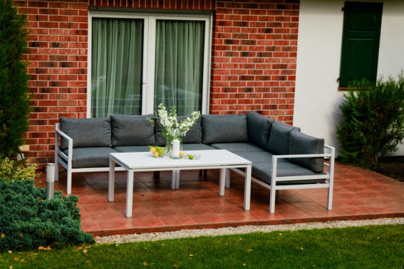 ALLUMINIO GRANDE ZO.036.A Garden furniture set Table + sofa