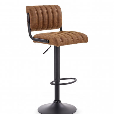 V-CH-H/88 Bar stool (Black/brown)