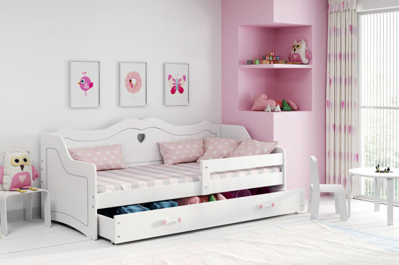 Yuliya Bed with mattress 160x80 white