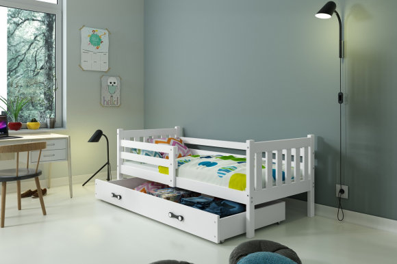 Carino Bed with mattress 190x80 white