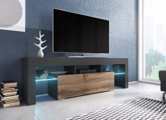 Torro 138 TV skapis Anthracite/oak wotan
