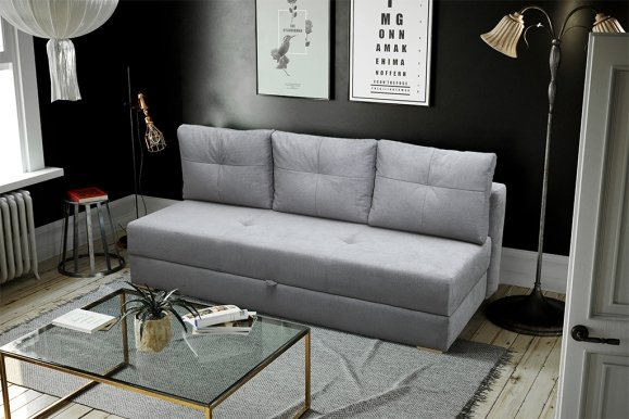 DAFNE Sofa-bed (fabric light grey VARDO 06)
