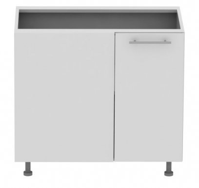 Standard DNRL 100 cm Laminat Corner base cabinet with shelf