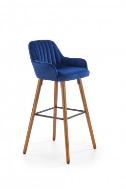 V-CH-H/93- GR Bar stool (Blue/nut)