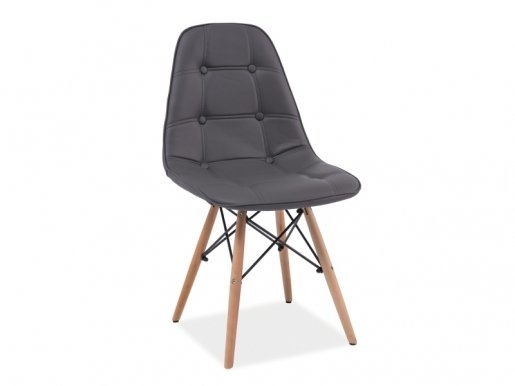 Axel- BUSZ Chair grey/beech wood