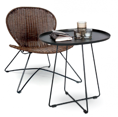 TROY Chair Brown + TINA Table