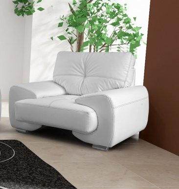 OM-GA I Armchair (white eco leather D 511)