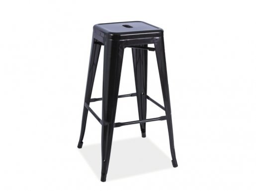 LONG C Bar stool Black