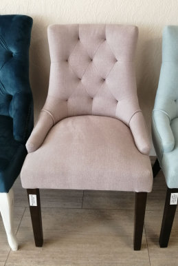 CORAL Chair dark walnut/pink