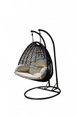 DOPPIO Hanging chair with cushions