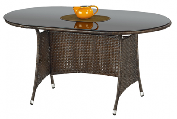 MASTER Table Dark brown/black