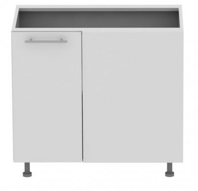Standard DNRP 100 cm Laminat Corner base cabinet with shelf