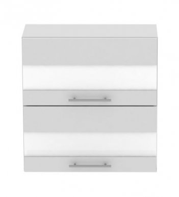 Standard WK2S70 70 cm Laminat Horizontal wall cabinet with 2 glass doors