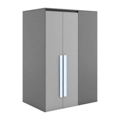PLAY PL-00P Wardrobe with lighting+Handles to PL-00