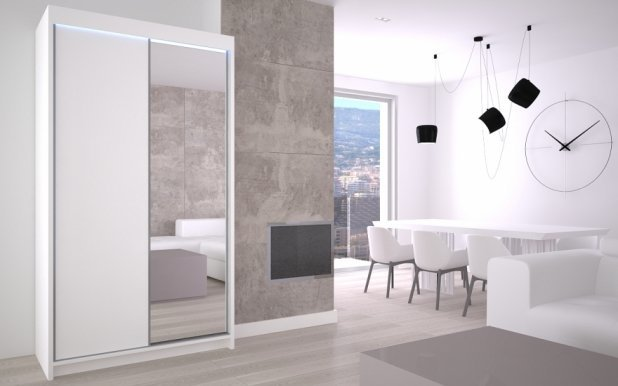Max- Patti 120 White mat Wardrobe
