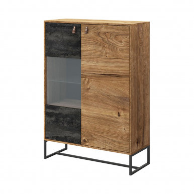 Dark-Collection DWT93 Glass-fronted cabinet