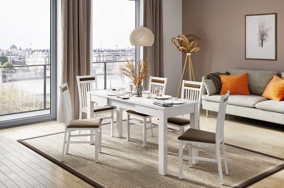 Orion 2 Dinning table (sliding) white