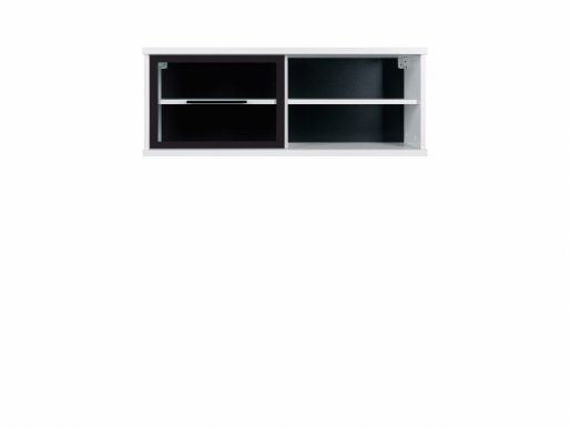 Fever SFW1W/4/10 Wall glass-fronted cabinet white mat