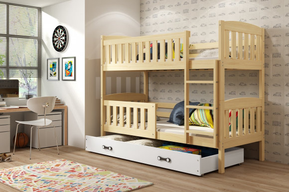 Cubus 2 Bunk bed with mattress 190x80 pine