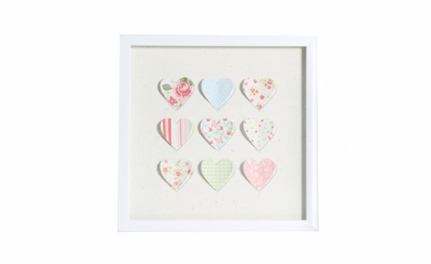 Picture with frame 3D-130 Heart