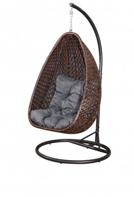 MARRONE Hanging chair with cushions