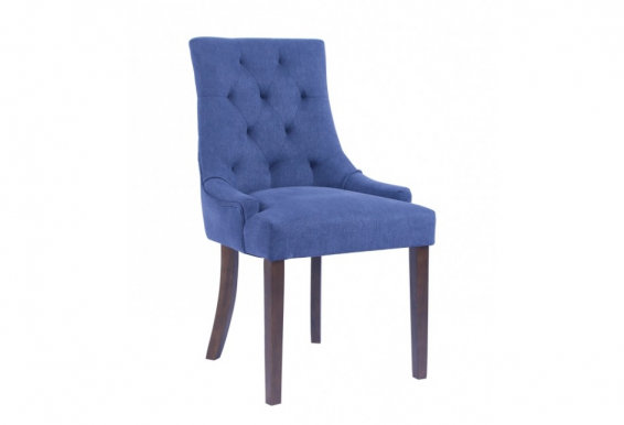 CORAL Chair dark walnut/blue