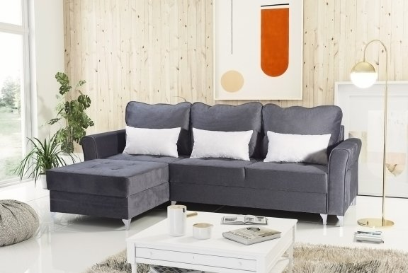 Broadway mini Antracyt (Viton 203+199) Universal L/R Corner sofa