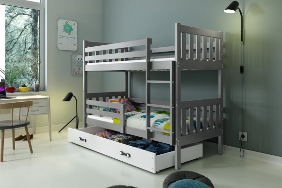 Carino 2 Bunk bed with mattress 190x80 graphite