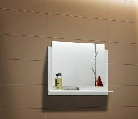 DR/LU Mirror for bathroom white