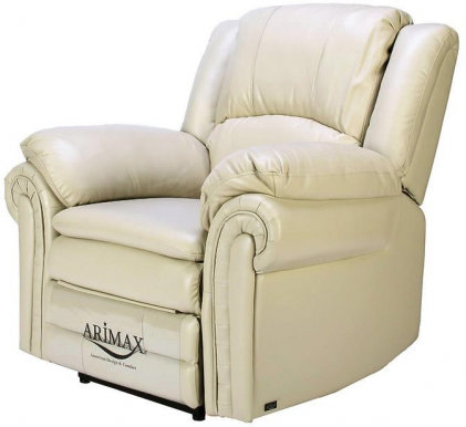 CARL Armchair With electro recliner (Leather Ivory CX3010)