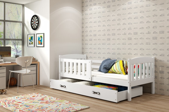 Cubus 1 Bed with mattress 160x80 white