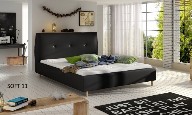 ANG_01 (SOFT11) 140x200 Bed Black