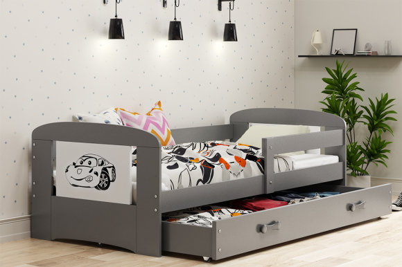 Children's bed FILIP graphite