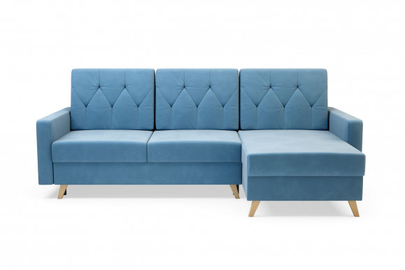 MARKOS Universal L/R Corner sofa (light blue fabric Kronos 31)