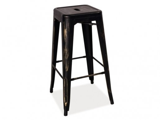 LONG CP Bar stool Black wipe